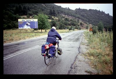 @RobAng 2001, Velotour Peloponnes (GR). Tag2, Zachlorou-Diakofto (Vouraikos-Schlucht zu Fuss) - Zachlorou (Schmalspurbahn) - Kalavrita