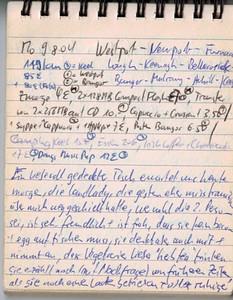 """Mo 9.8.04, 119km, 85€: Westport - Newport - Furnace - Lough - Keenagh - Ballacorick - Bangor - Mulrany - Achill - Keel Ein liebevoll gedekcter Tisch werwartet uns heute Morgen, die Landlady, die gestern eher misstrauisch über mich weggeschielt hatte (wer wohl die zweite Person sei..) ist sehr freunlich und ist froh, dass sie kein bacon & egg auftischen muss. Sie denkt aber auch mit und nimmt an, dass Vegetarier lieber """"herb tea"""" trinken würden. Sie erzählt auf Nachfrage von früheren Zeiten, als sie noch einen Laden betrieben hätte und alles ruhiger und besser wäre in Westport.. Ausserdem schwärmt sie vom offenen Feuer und freut sich schon auf September, wo sie timber + Kohlebrickets (Torf ist eher teuer und anscheinend qualitativ nicht mehr besonders gut) zu einem sauberen Feuer entfachen kann."""