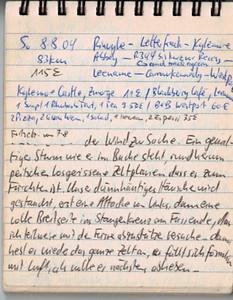 """So 8.8.04, 83km, 115€: Rinnvyle - Letterfrack - Kylemore Abbey - R344 bis kurz vor Recess (and back again) - Leename - Carrowkennedy - Westport ..und wirklich , auch heute morgen, nachdem die lange bange Nacht überstanden ist, erst nachdem es hellgeworden ist hab ich überhaupt für ein paar Minuten einschlummern können, also auch hier liegen reihum die Zelte flach, vor allem auch die beiden riesigen Familien""""bungalows"""", auch dasjenige """"unserer"""" Iren, die es immerhin nachts freiwillig auf Bodenniveau gebracht hatten.. Die Franzosen in der geschützen Mulde neben uns haben einen Totalverlust zu verzeichnen, überhaupt scheinen wir von den exponiert stehenden so ziemlich die einzig """"Überlebenden"""" zu sein!"""