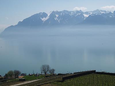 Ostern 09 - per Velo rund um den Genfersee und via Bonneville nach Annecy / Aufnahmeort  Saint-Saphorin (Lavaux) (509.1 m), St-Saphorin (Lavaux), Schweiz /  ©  Rob Tani