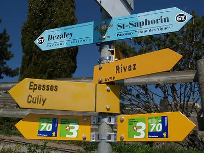 Ostern 09 - per Velo rund um den Genfersee und via Bonneville nach Annecy / Aufnahmeort  Chexbres (465.1 m), Chexbres, Schweiz /  ©  Rob Tani