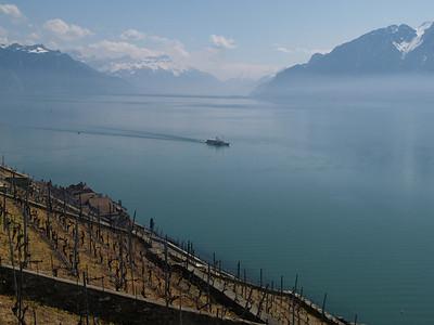 Ostern 09 - per Velo rund um den Genfersee und via Bonneville nach Annecy / Aufnahmeort  Chexbres (450 m), Chexbres, Schweiz /  ©  Rob Tani