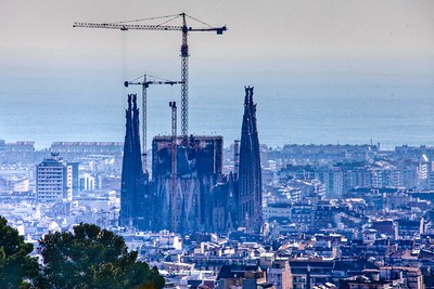 Basilica of the Sagarda Familia - A view from Park Guell