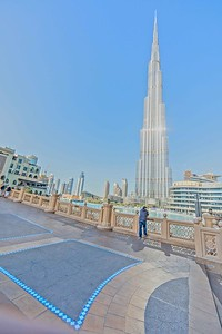 Burj Khalifa, a skyscraper on top of another skyscraper, that's how high it is.
