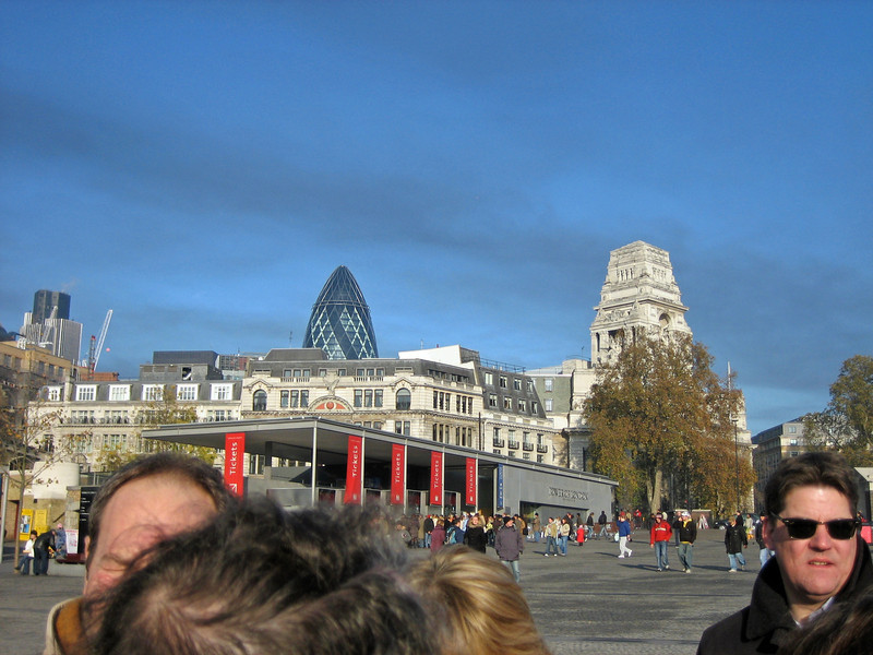 The Gherkin and the Ticketing area