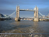 The Tower Bridge from Downriver