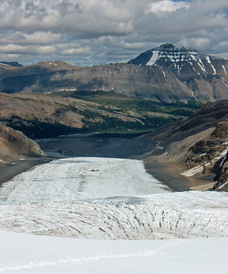 Athabasca Glacier  from Third Icefall