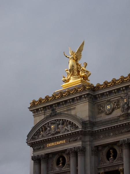 Left corner of the Garnier Opera House