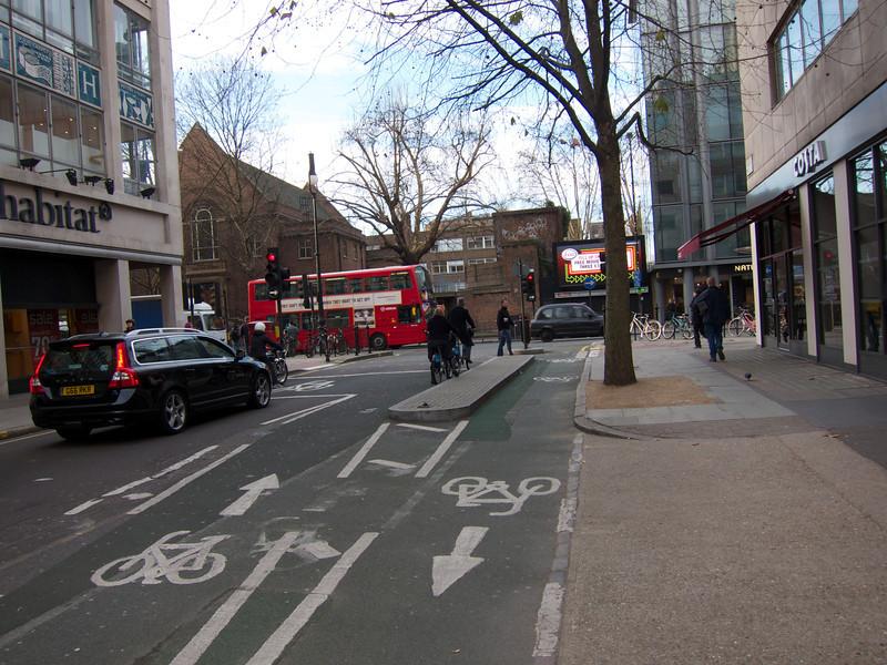 Torrington Place-Tottenham Court from Tottenham Court sidewalk<br /> London Winter - 2012-01-13 at 09-57-52