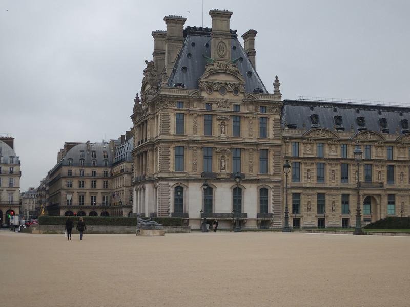 Louvre Northwest end (jeanne d'Arc in the distance)<br /> Paris - 2013-01-09 at 11-27-44