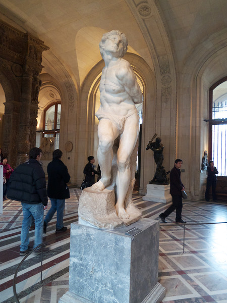 Rebellious Slave -- Michelangelo<br /> Paris - 2013-01-10 at 12-13-07