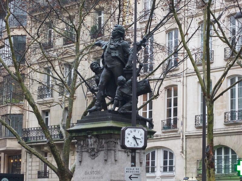 Danton Statue at Odeon<br /> Paris - 2013-01-10 at 15-32-01