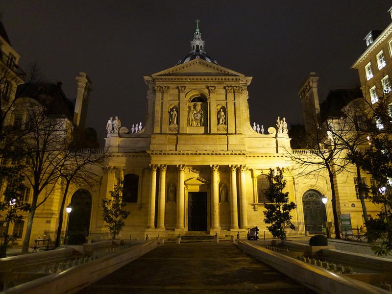 Sorbonne from the Place de la Sorbonne<br /> Paris - 2013-01-12 at 20-58-46