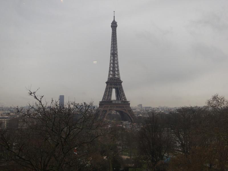 Tour Eiffel from the Cite de Architecture et du Patromoine<br /> Paris - 2013-01-12 at 12-06-52