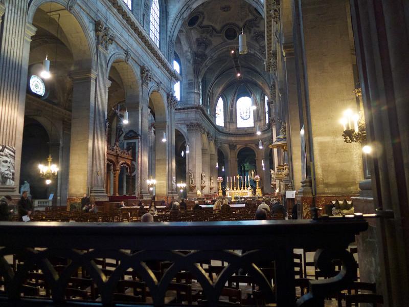 Interior of St Sulpice<br /> Paris - 2013-01-13 at 11-59-39