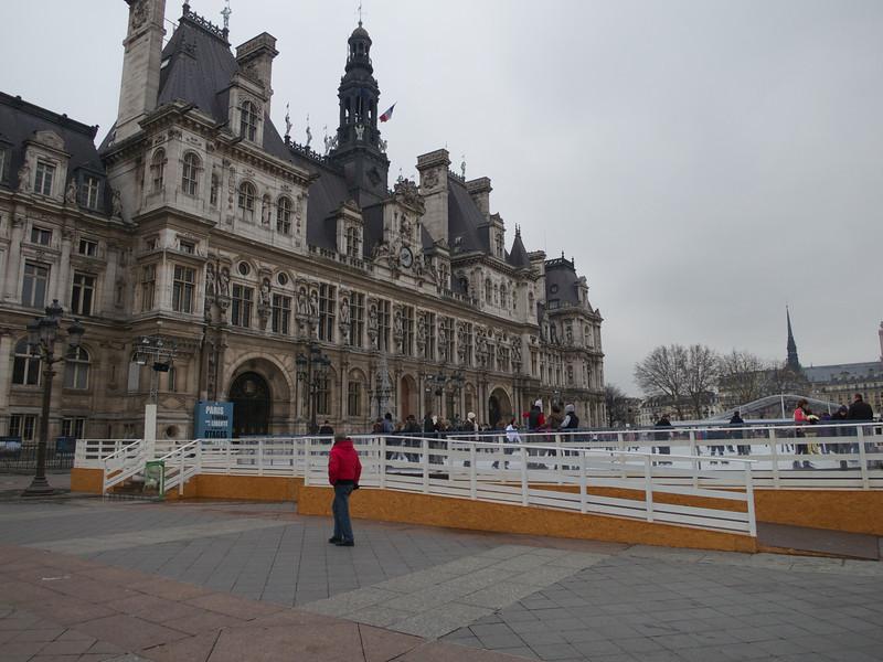 Hotel de Ville with ice rink<br /> Paris - 2013-01-13 at 13-39-44