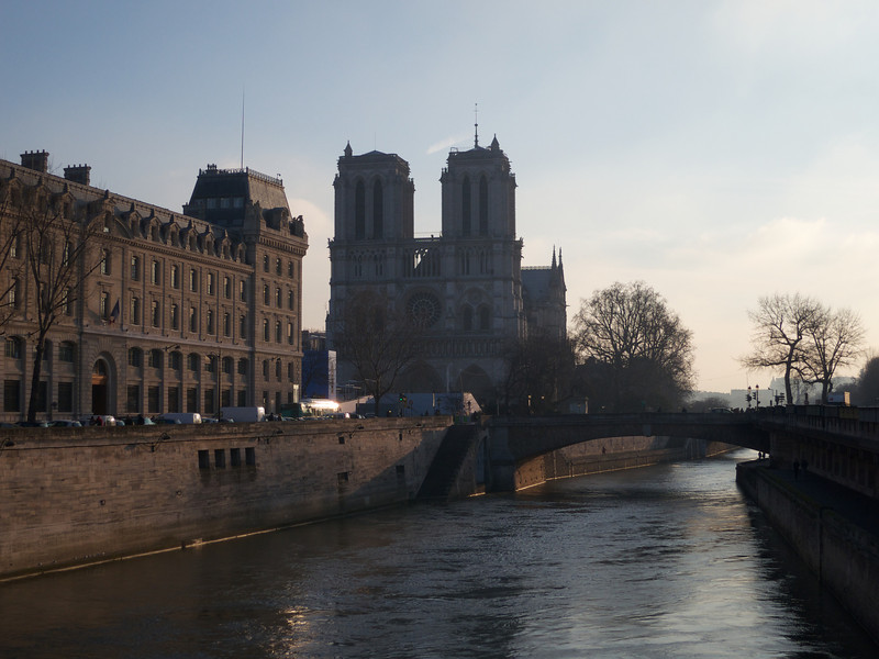 Notre Dame from Pont St Michel<br /> Paris - 2013-01-14 at 10-00-47