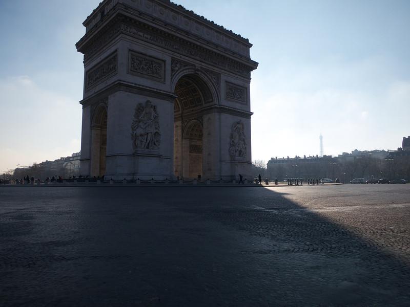 Arc de Triomphe and Tour Eiffel<br /> Paris - 2013-01-14 at 11-59-41