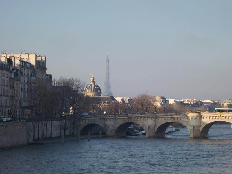 Pont Neuf Insitut de France and Tour Eiffel from Pont au Change<br /> Paris - 2013-01-14 at 10-48-37