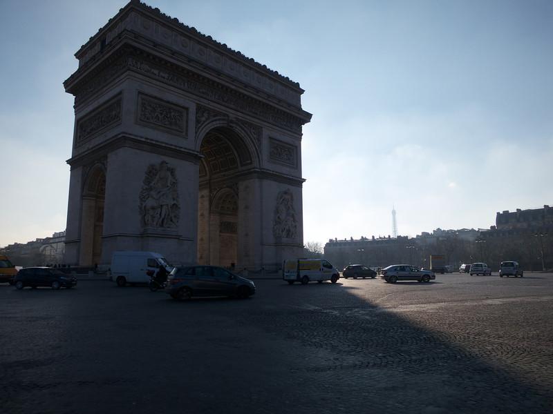 Arc de Triomphe and Tour Eiffel<br /> Paris - 2013-01-14 at 11-59-17
