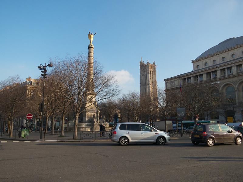 Palace du Chatalet and Tour St Jacques<br /> Paris - 2013-01-14 at 10-49-22