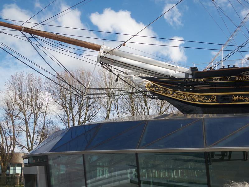 Cutty Sark bow<br /> London - 2014-02-03 at 11-52-19