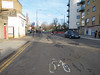 Idiot cycle path at Island Gardens<br /> London - 2014-02-03 at 14-57-51