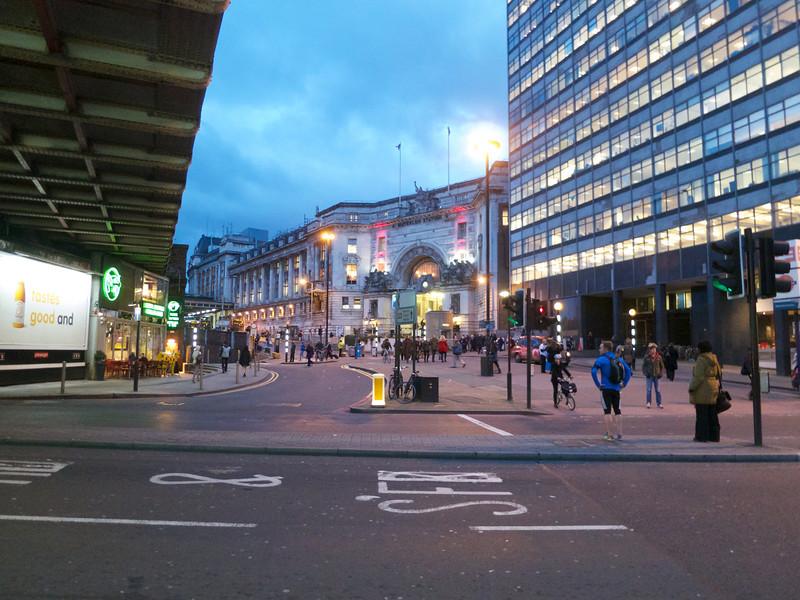 Waterloo Station at twilight<br /> London - 2014-02-04 at 17-07-33