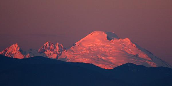 Mt Baker Alpenglow