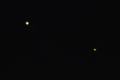 Jupiter, Io, Europa, Ganymede, Callisto With Saturn