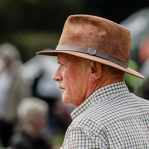 Man in a Leather Fedora