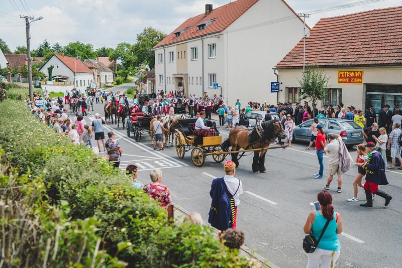 Oslavy 700 let městyse Štěkeň