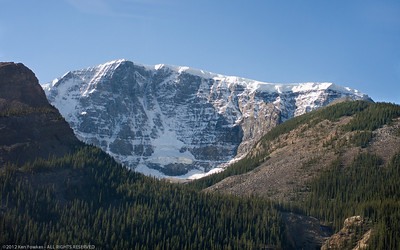 On the road from Jasper to Lake Louise