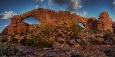 South and North Window, Arches National Park