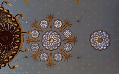 Ceiling detail, Kazinczy Synagogue, Budapest