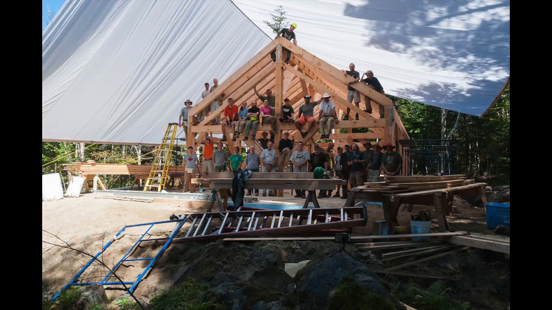 Time-lapse video of the timber-frame raising and finishing.