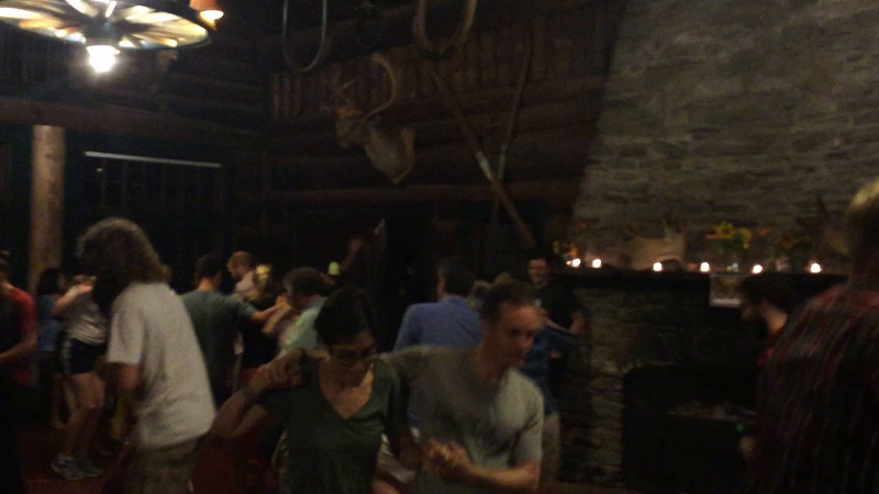 The final Salty Dog Rag at Moosilauke Ravine Lodge - triple time! Video by Mark Schiffman '90.