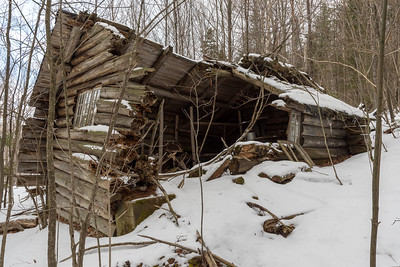 Remains of a hunting cabin on the slopes of Mount Cube, not far from the Rivendell trail.