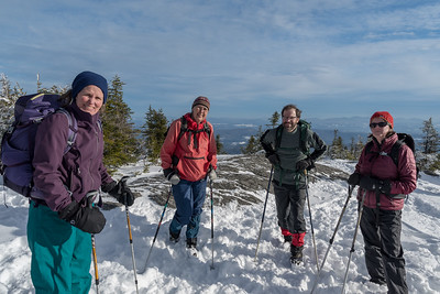 Lelia, Kathy, Ken, Karen, on summit of Mt.Hunger.