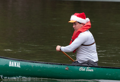 Spencer Chu '16, meet director, in singles canoeing. Woodsmen's Weekend at Dartmouth, 2015.