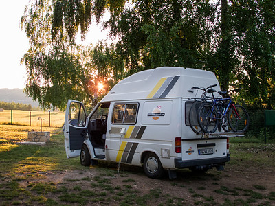 Our Buzz-Around Camper in Plitvice Croatia
