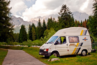Our Buzz-Around Camper in the Italian Dolomites