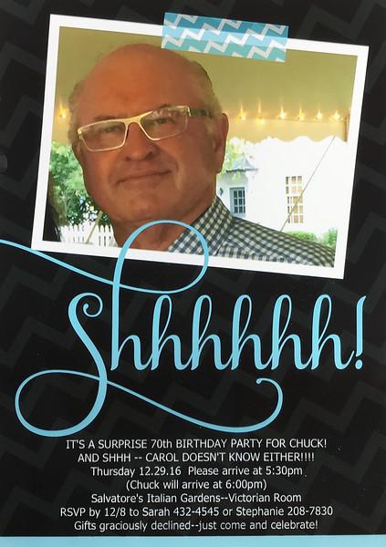 Chuck Mack Surprise 70th!