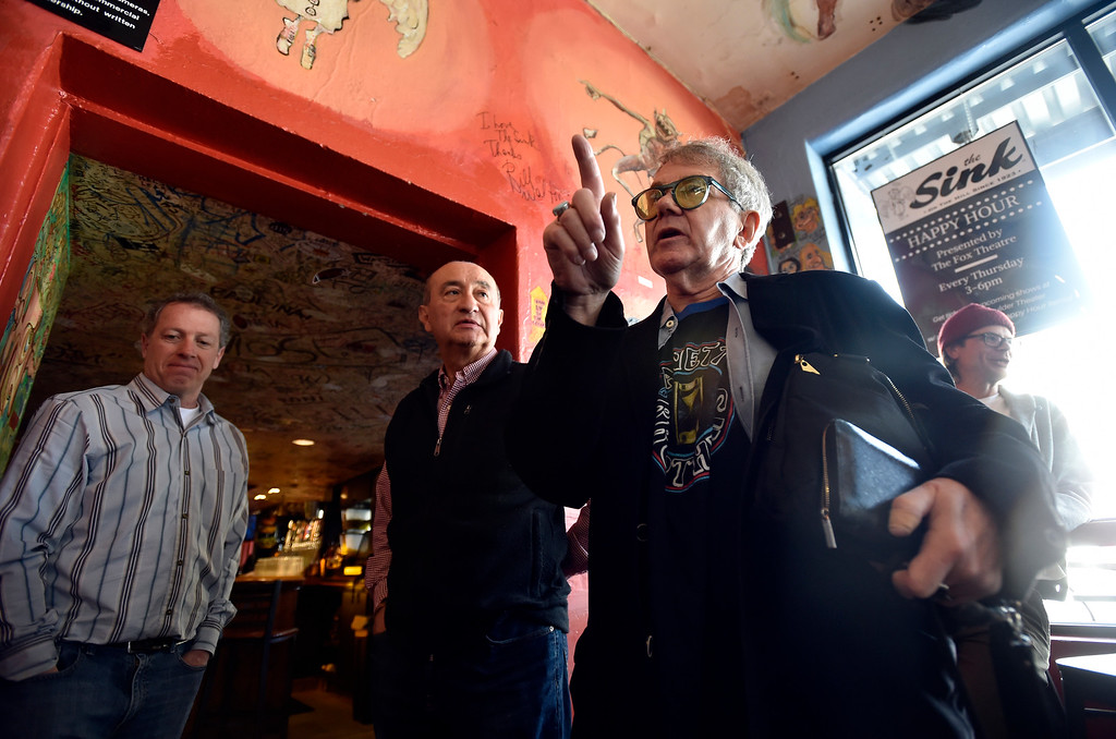 . BOULDER, CO - FEBRUARY 4, 2019: Former manager of The Sink and Colorado Music Hall of Fame Inductee Chuck Morris speaks during a wall signing event on Monday at The Sink in Boulder. For more photos of the event go to dailycamera.com (Photo by Jeremy Papasso/Staff Photographer)