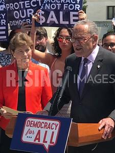 Jeanne Shaheen and Chuck Schumer at Presser in Washington, DC