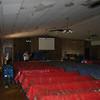 Sanctuary.  Note the wet ceiling tiles.  A few pews got wet.