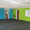 Old fellowship hall, wet ceiling and wet carpet.  The concrete block walls seem to be fine.