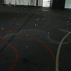 Gym floor is a special coating over concrete.