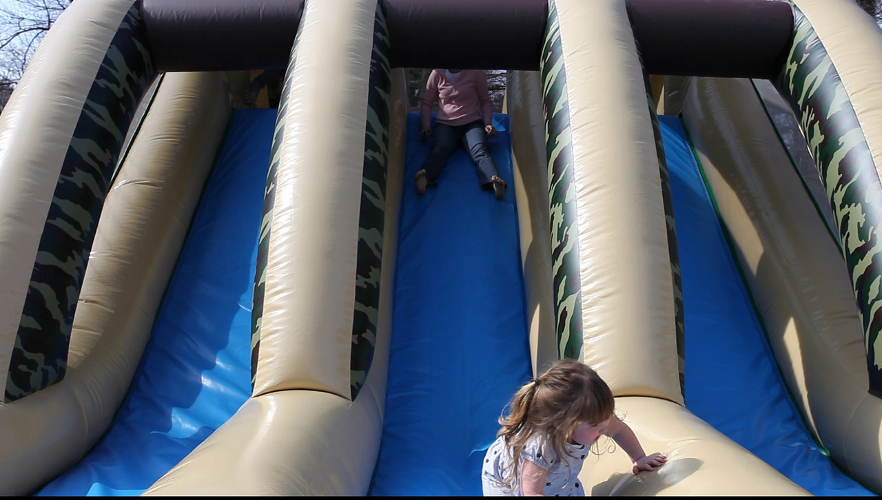 Hi-Def video of the big kids coming down the slide!