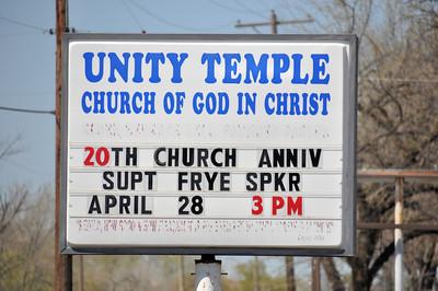 20th Anniversity Sunday Service Unity Temple April 28, 2013